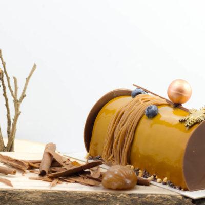 DOUCEUR D'HIVER : la douceur du marron et la générosité de la myrtille, un équilibre parfait.