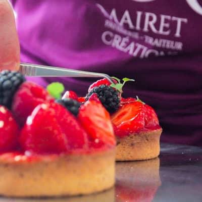 Tartelette fruits rouges : tartelettes aux fruits rouges. Crédit photos : Solène Makara.